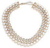 ABS by Allen Schwartz Rebel Soul Three-Row Crystal Necklace