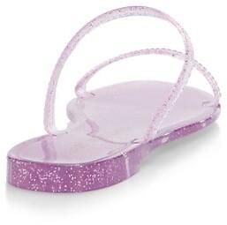 Stuart Weitzman Sawyer Glitter Jelly Slides
