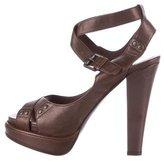 Bottega Veneta Leather Cutout Sandals