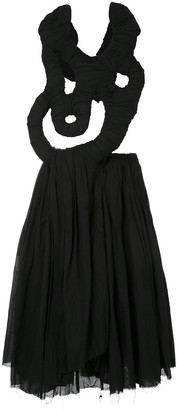 Comme des Garcons Pre-Owned abstract detail draped dress