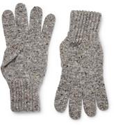 Drake's - Ribbed Donegal Merino Wool Gloves