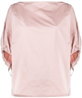No.21 balloon sleeve boxy blouse