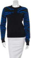 Torn By Ronny Kobo Jacquard Zebra Pattern Sweater