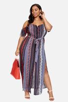 Fashion to Figure Amira Mixed Pattern Maxi Dress