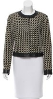 Armani Collezioni Leather Woven Jacket