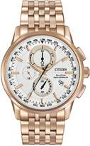 Citizen Men's Eco-Drive World Chronograph Stainless Bracelet Watch