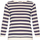 A.P.C. Ajoure long-sleeved cotton-jersey top