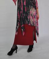 Port Side-Slit Tube Maxi Skirt
