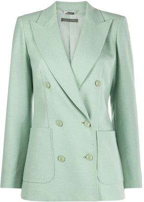 Alberta Ferretti Double-Breasted Peak Lapel Blazer