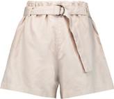 Brunello Cucinelli Cotton and linen-blend shorts