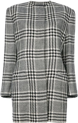 Versace Pre Owned Houndstooth Coat