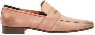 Santoni Beige Leather Flats