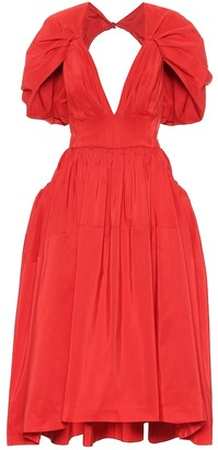 Alexander McQueen Pleated faille dress