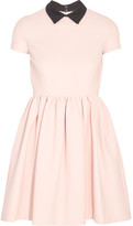 Miu Miu Ribbed Stretch-jersey Mini Dress - Blush
