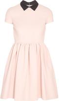 Miu Miu Ribbed Stretch-jersey Mini Dress - Blush