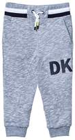 DKNY Grey Marl Sweatpants with Rubberised Logo