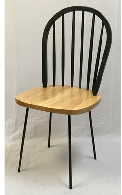 August Groveâ® Perrone Windsor Dining Chair (Set of 2) August GroveA Color: Black