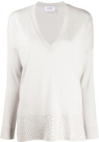 Snobby Sheep deep V-neck sequin embellished jumper