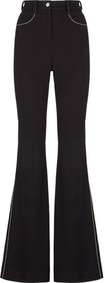 Fendi Contrasting Stitching Flared Jeans