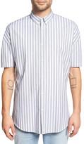 Zanerobe Striped Rugger Short Sleeve Oversized Fit Shirt