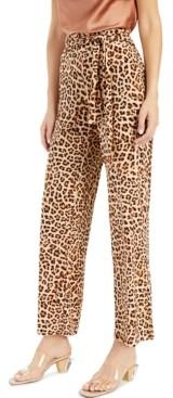INC International Concepts Inc Cheetah-Print Wide-Leg Pants, Created for Macy's