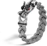 John Hardy Legends Naga 13.5MM Station Bracelet in Silver with Gemstone