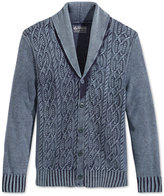American Rag Men's Indigo Cable-Knit Shawl-Collar Cardigan, Only at Macy's