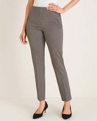So Slimming Juliet Houndstooth Ankle Pants
