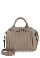 Alexander Wang Rockie Leather Crossbody Satchel - Grey