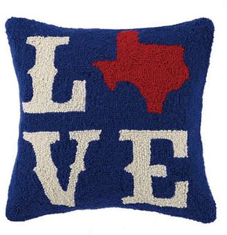 """Peking Handicraft, Inc. Texas """"Love"""" Hook Pillow"""