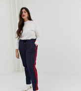 Junarose pinstripe pants with side stripe