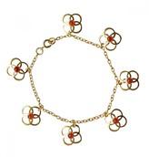 Mela Artisans Ziba Clover Red Onyx Bracelet