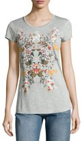 Romeo & Juliet Couture Floral-Graphic Jersey Tee