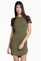 Select Fashion Fashion Mesh Insert Diphem Dress Dresses - size 6