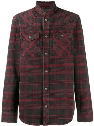 Balmain checked shirt