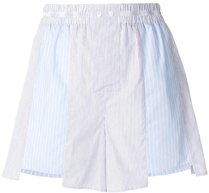Alexander Wang striped polin shorts