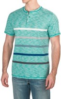 Specially made Striped Henley T-Shirt - Short Sleeve (For Men)