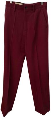Gucci Burgundy Wool Trousers