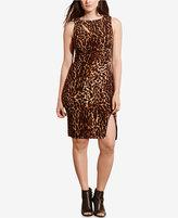 Lauren Ralph Lauren Plus Size Ocelot-Print Jersey Dress
