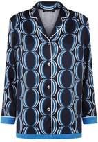 St. John Geometric Notch Collared Shirt