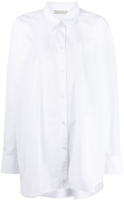 Nina Ricci Oversized Logo Embroidered Shirt