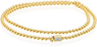 Maria Canale 18k Diamond Baguette Double-Wrap Bracelet