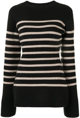 KHAITE The Lou striped jumper