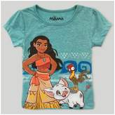 Disney Toddler Girls' Moana Short Sleeve T-Shirt - Green