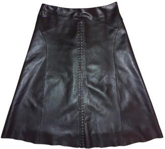 Barbara Bui Black Leather Skirt for Women
