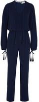 MICHAEL Michael Kors Tasseled Crepe Jumpsuit - Blue