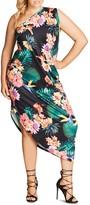 City Chic Floral One-Shoulder Maxi Dress