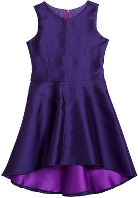 Zoe Girl's Violetta Sleeveless High-Low Top Stitch Panel Dress, Size 7-14