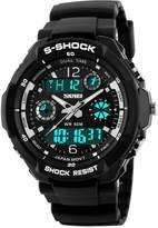 OWIKAR Women's Multifunction Fashion Sport Wrist Watch S Shock Water Resistant Military Digital LED Waterproof