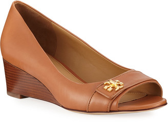 Tory Burch Kira Leather Wedge Sandals